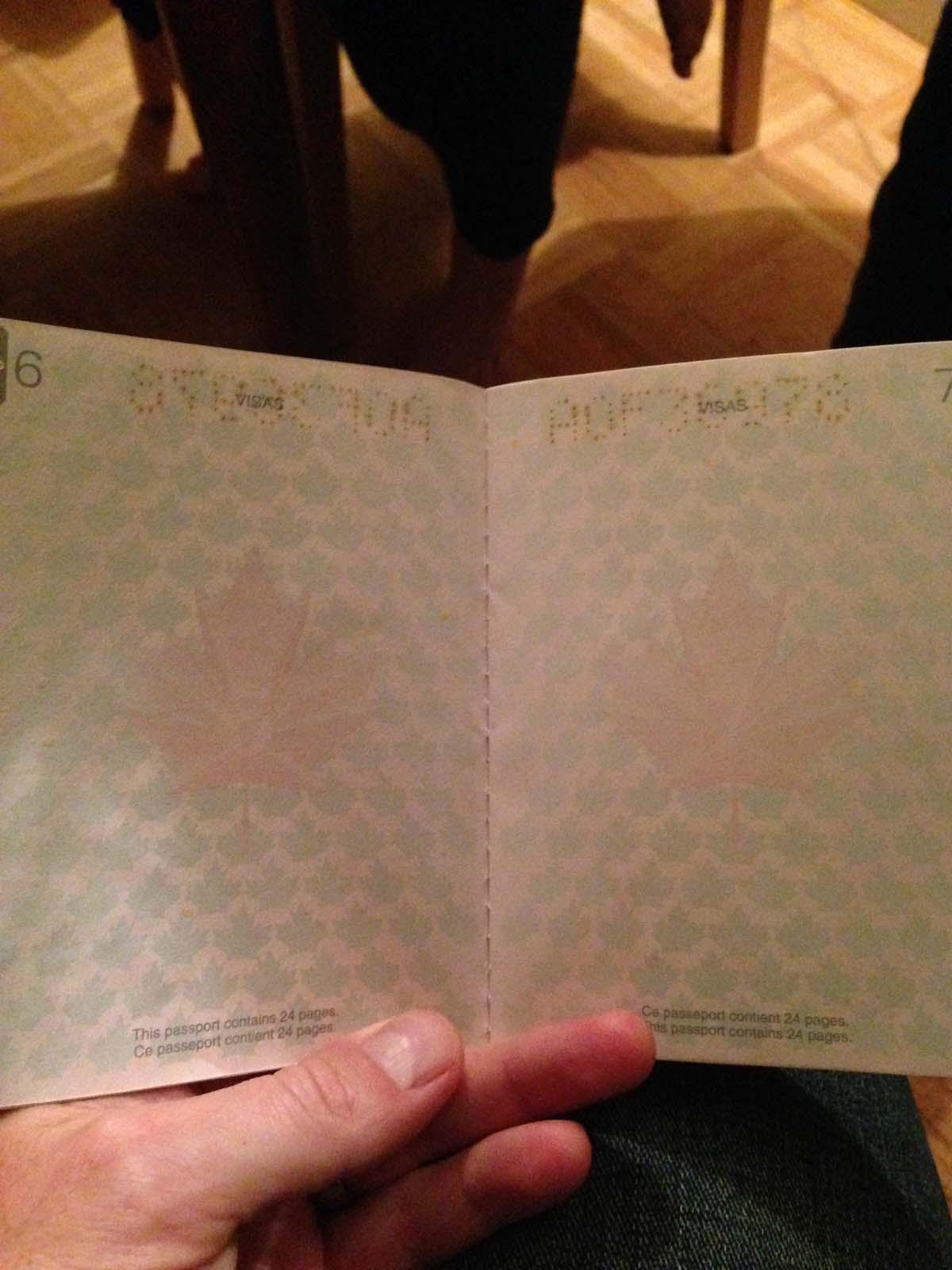 document pour renouveller un passeport canadien