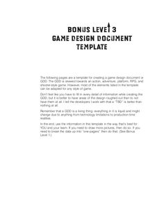 10 page game design document template