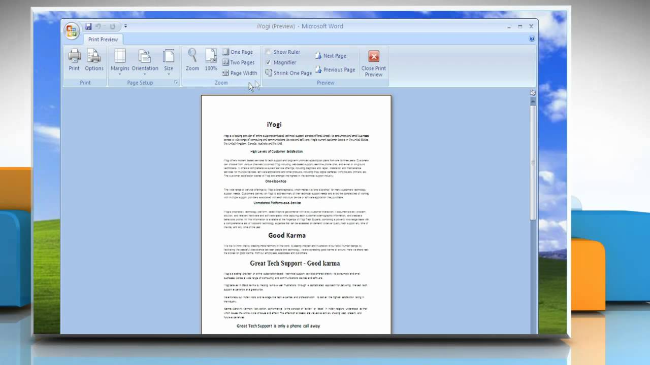 how to shrink a word document