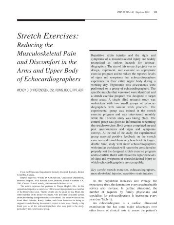 cramping after a cervical stretch document