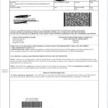 visa extension document number canada