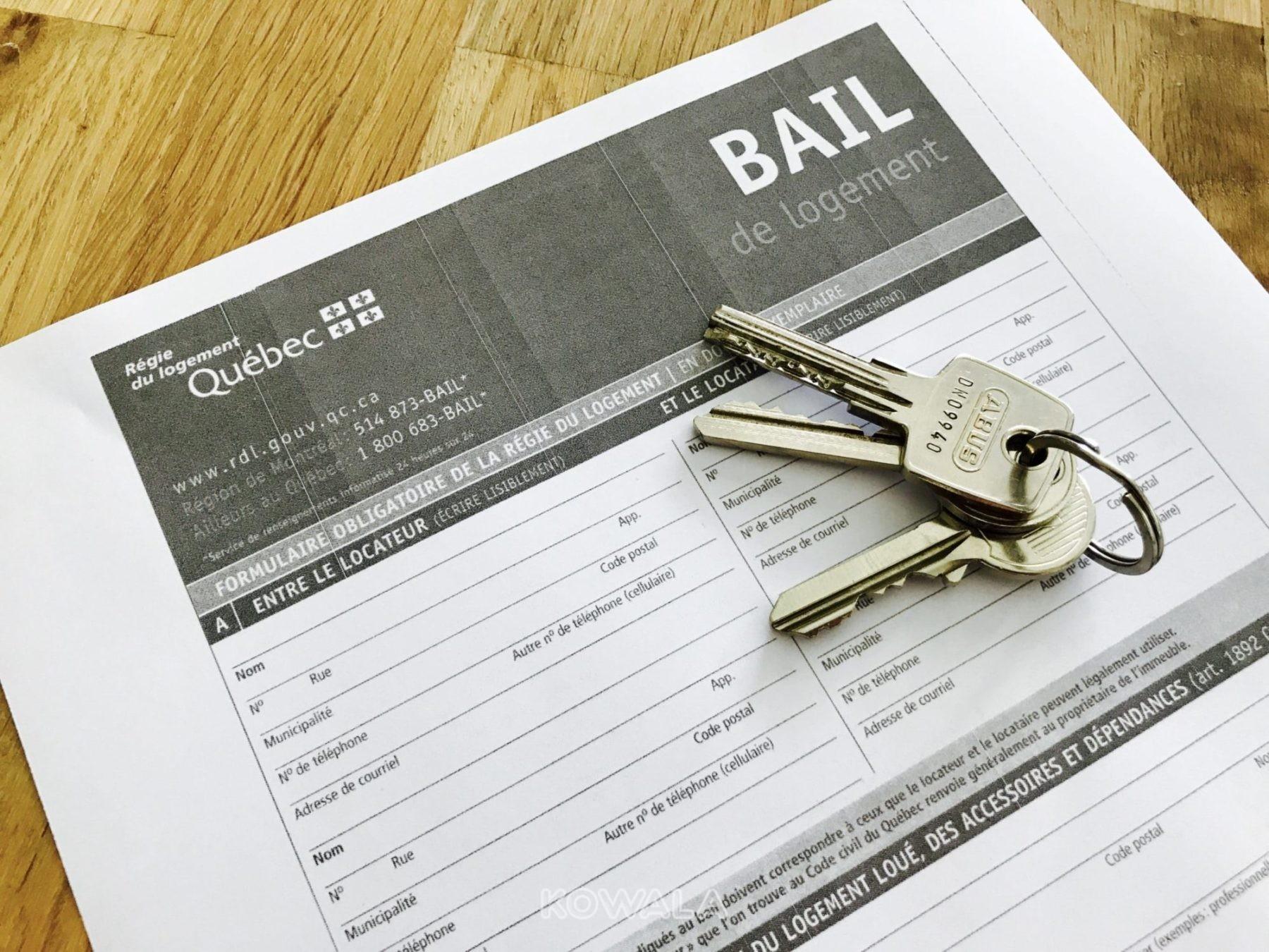 document pour louer son appartement