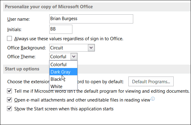 remove grey from ms 365 word document