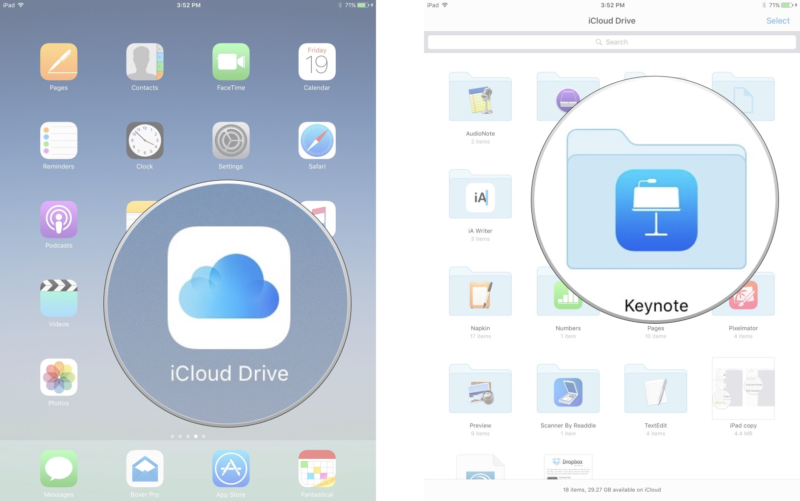 how to open document manager on ipad