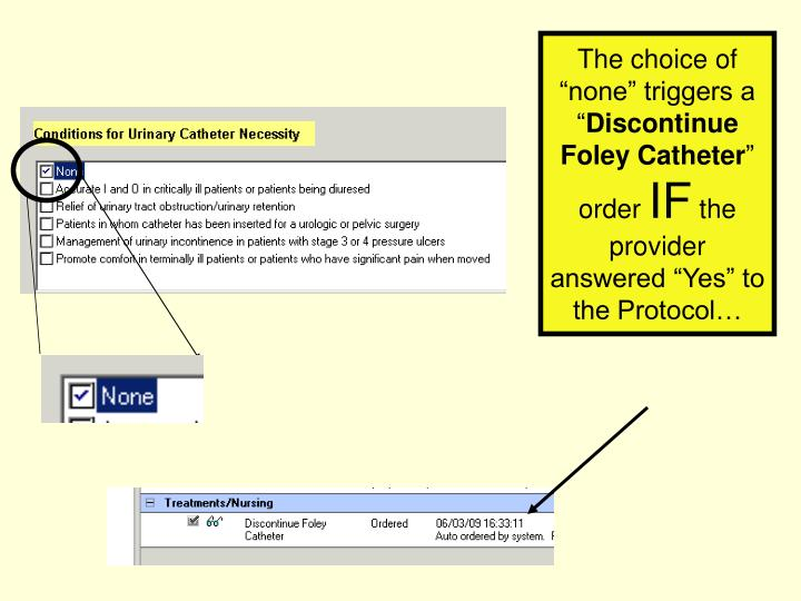 foley catheter removal documentation