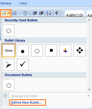 check box image for word document