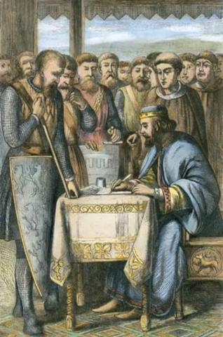 what document was signed by king john in 1215