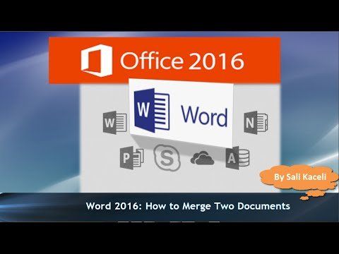 how to merge a document word