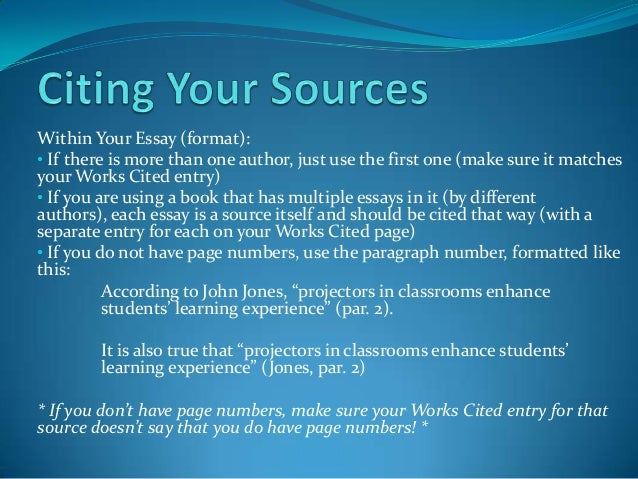 where in your paper must you document sources