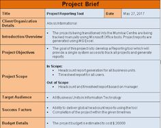 requirements documentation project management template