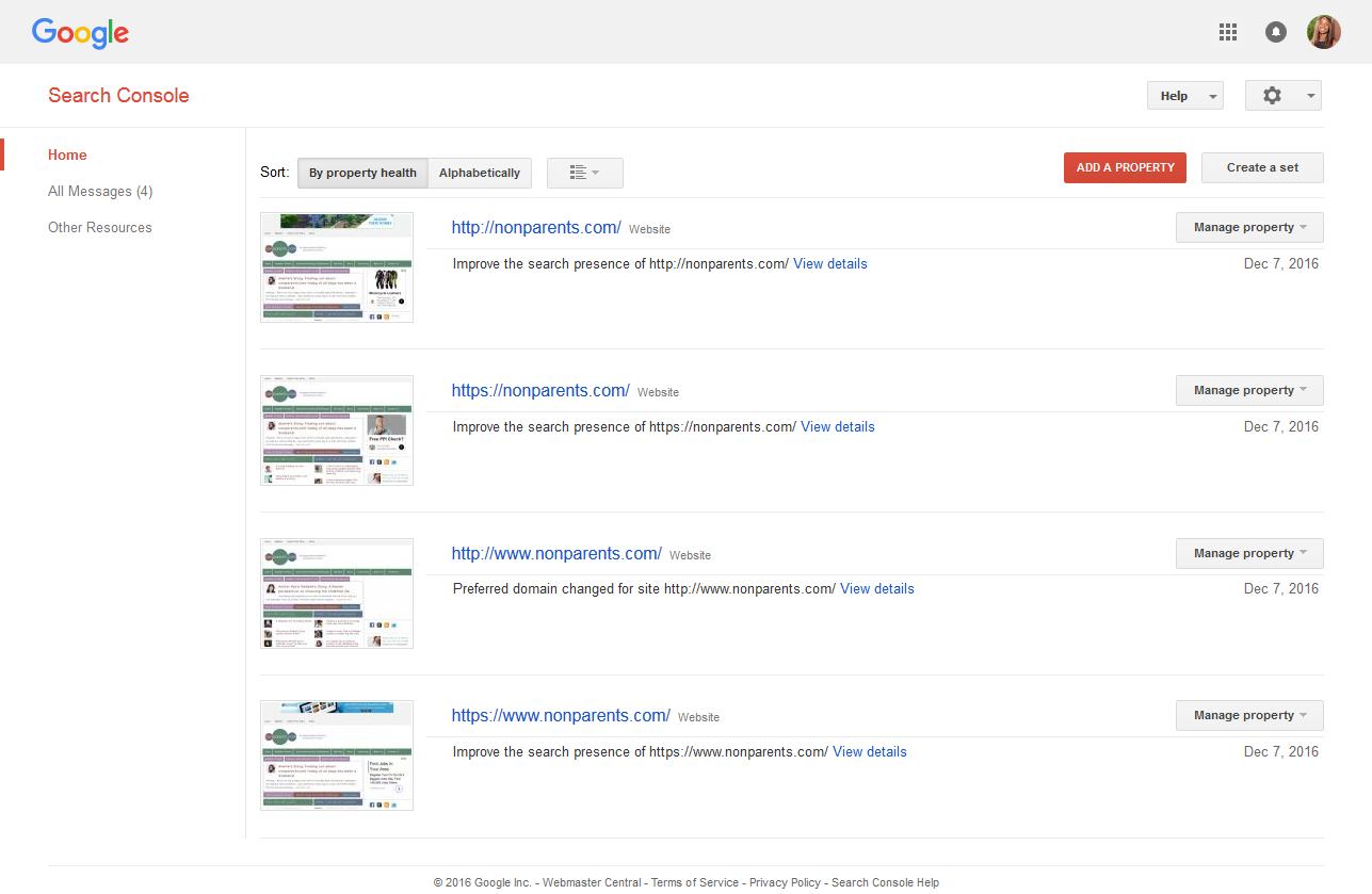 google search console documentation