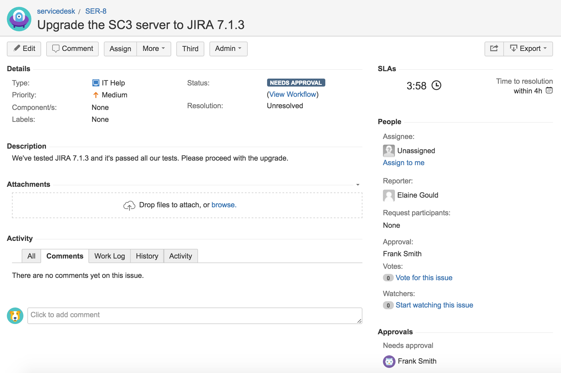 confluence documentation are there spacers