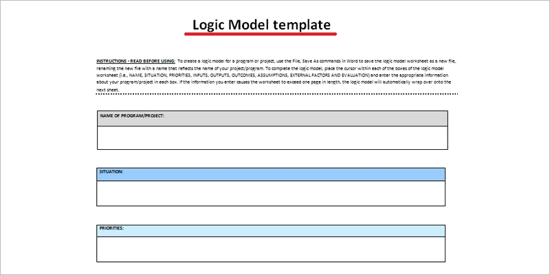 logic model template word document