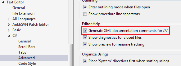 visual studio documentation generator