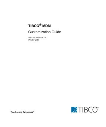 tibco 4.1 documentation