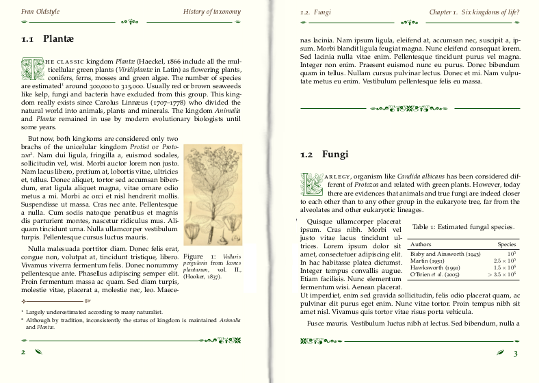 latex document template old gothic style