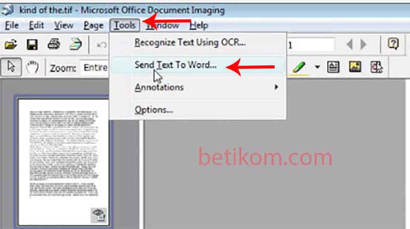 scan a document and edit in text