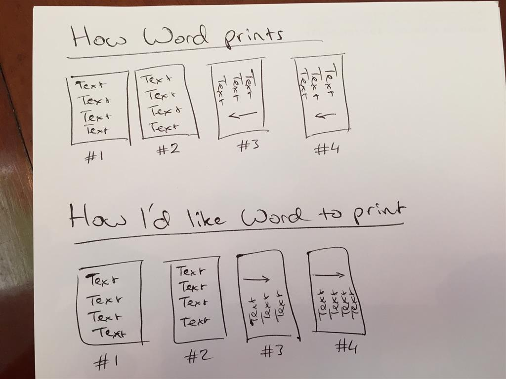 how to many a document landscape in word