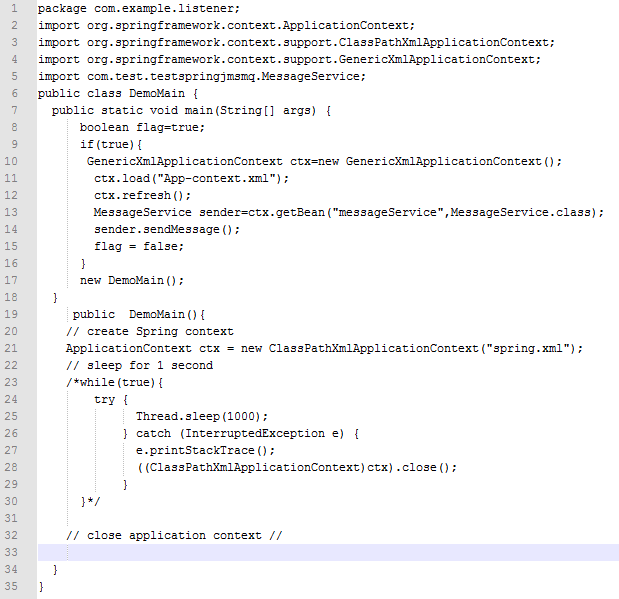 spring documentation application context example