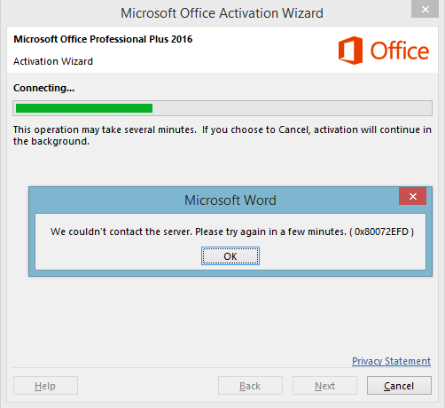 error when opening a signed office document