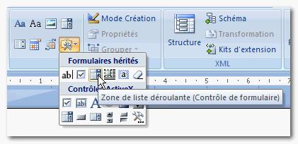 comment cocher une case dans un document word