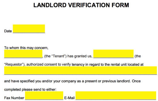 landlord proof of ownership document