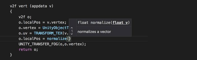 unity documentation visual studio shortcut
