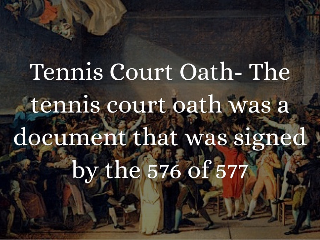 tennis court oath primary document