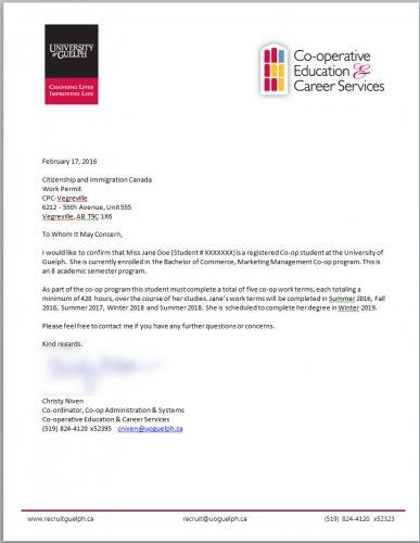 university of guelph humber verification document