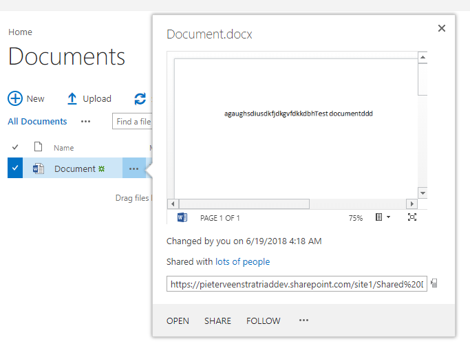 word says document is locked by me