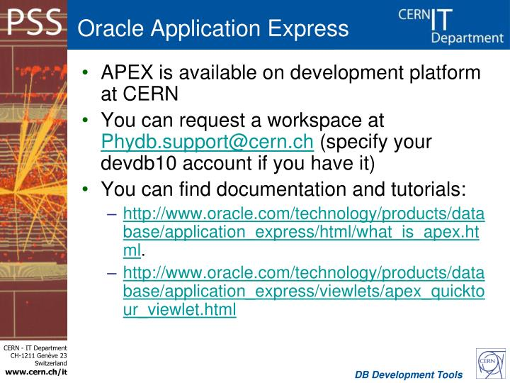 free database documentation tool oracle