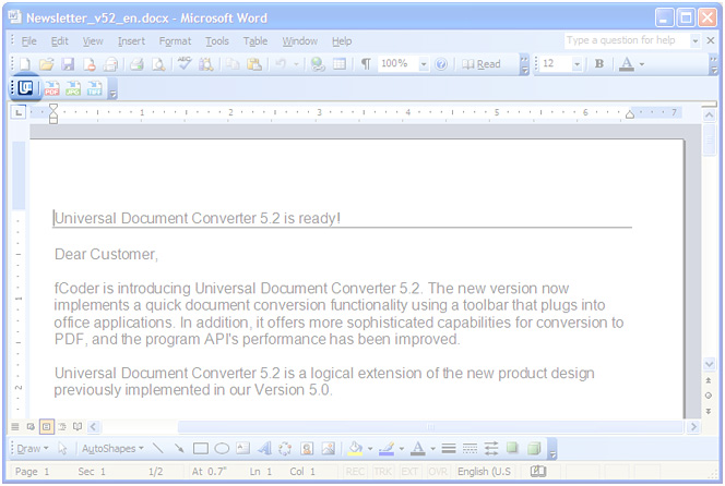 how to convert word document to pdf in office 2003