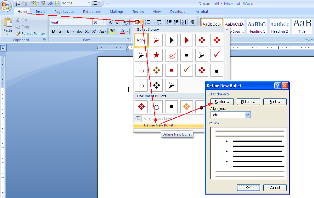 how to know the size of ms word document