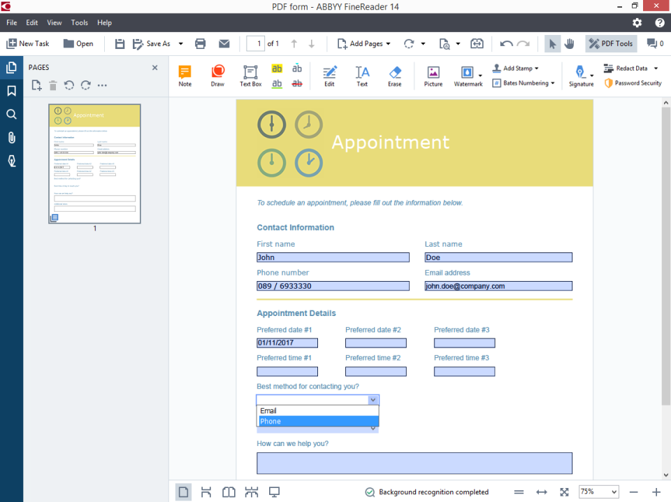 scanned document editor online free