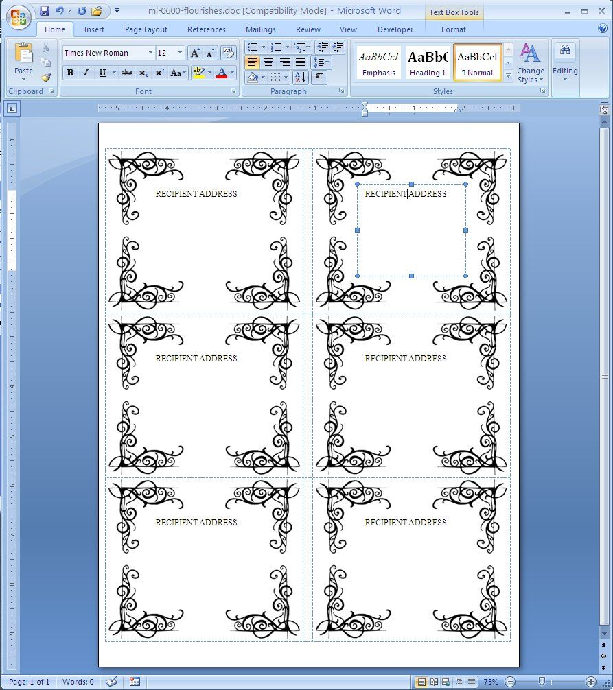 avery template 5160 word document