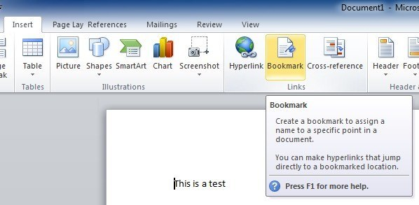 excel vba open word document and go to bookmark