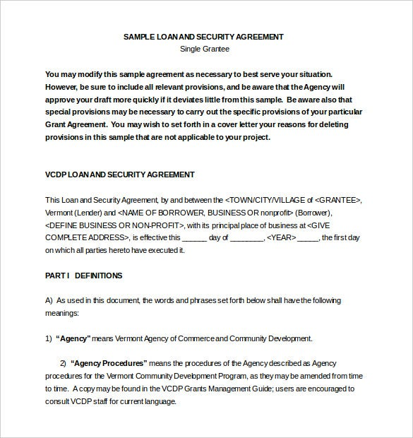 loan agreement template word document