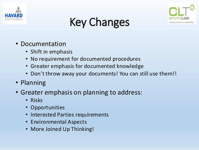 key documentation revision requirements