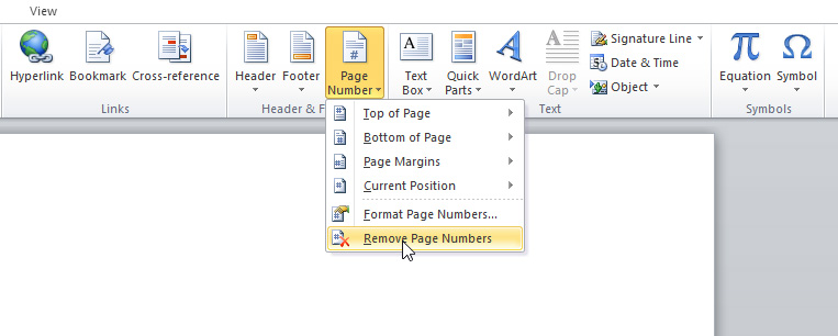 insert page number into whole pages document