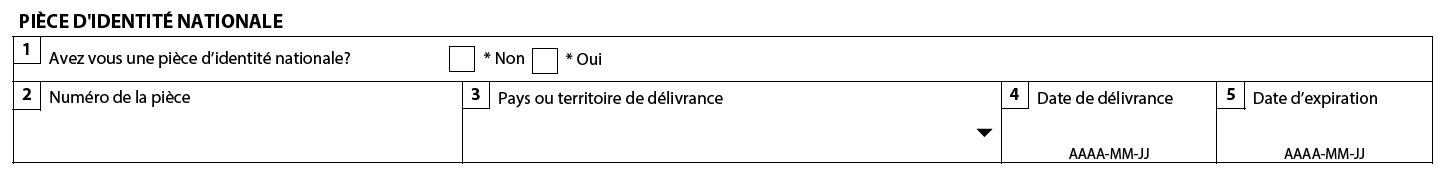 numero de document sur un permis de travail canada