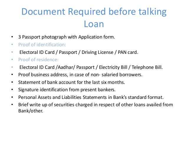 standard document format for pan card