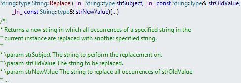 visual studio documentation comments c++