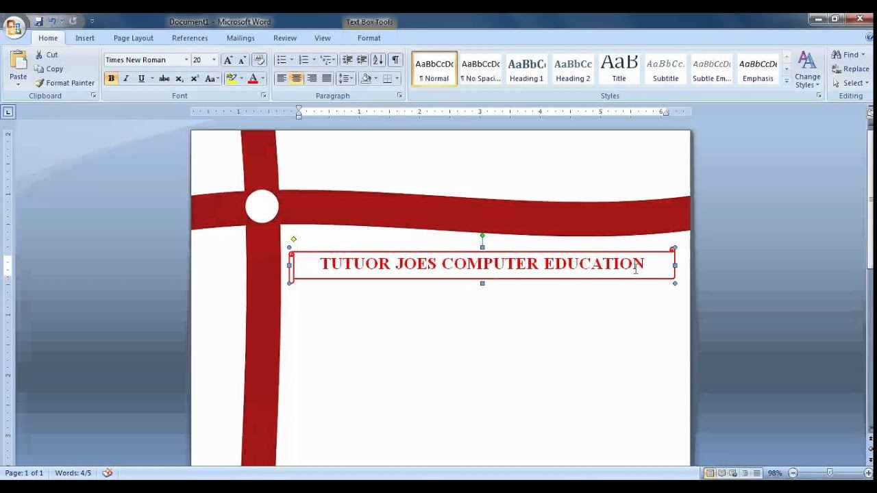 how to create index in word document