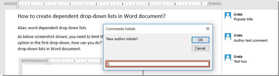 change author of word document