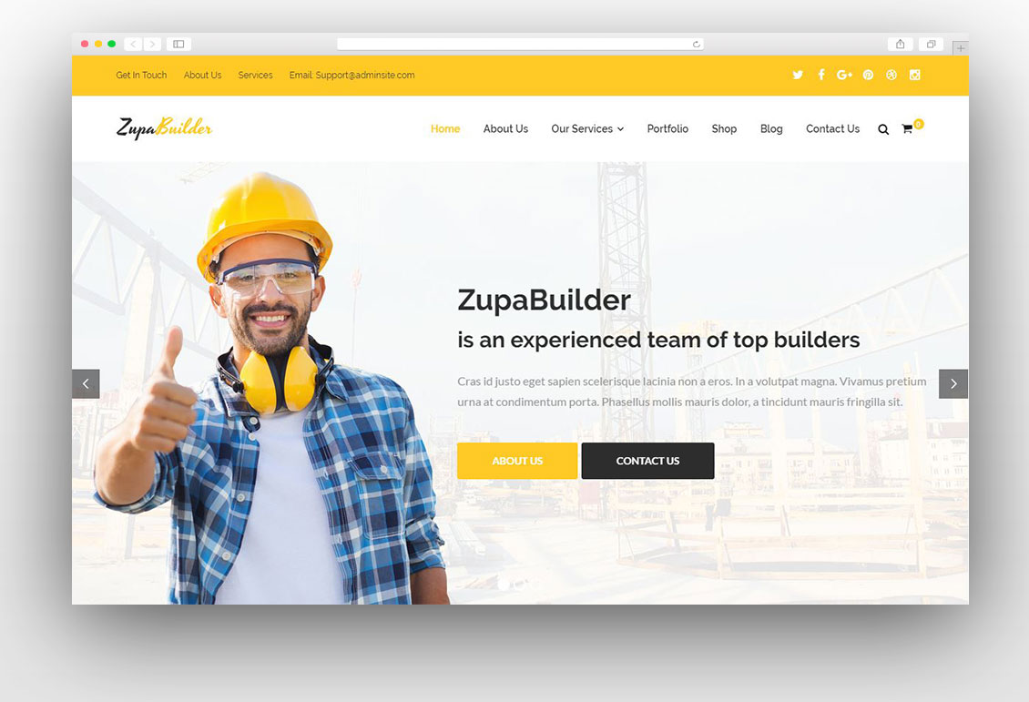 construction wordpress theme documentation