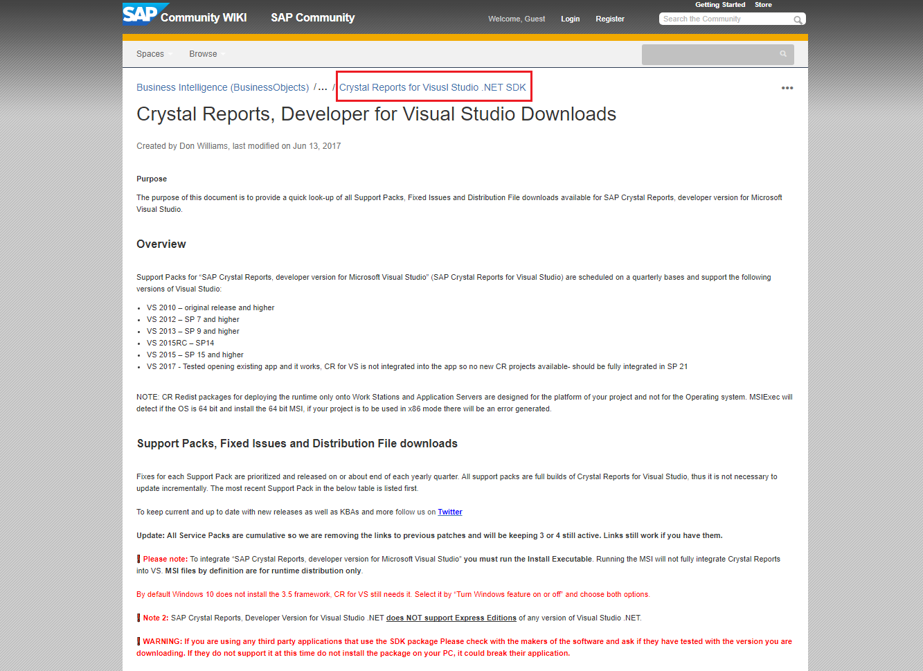 sap crystal reports for visual studio 2013 documentation