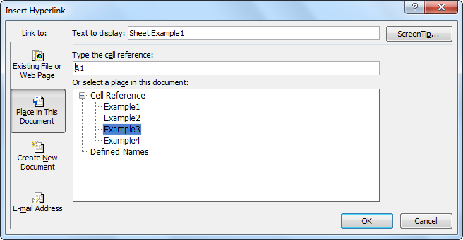 hyperlink to word document in excel