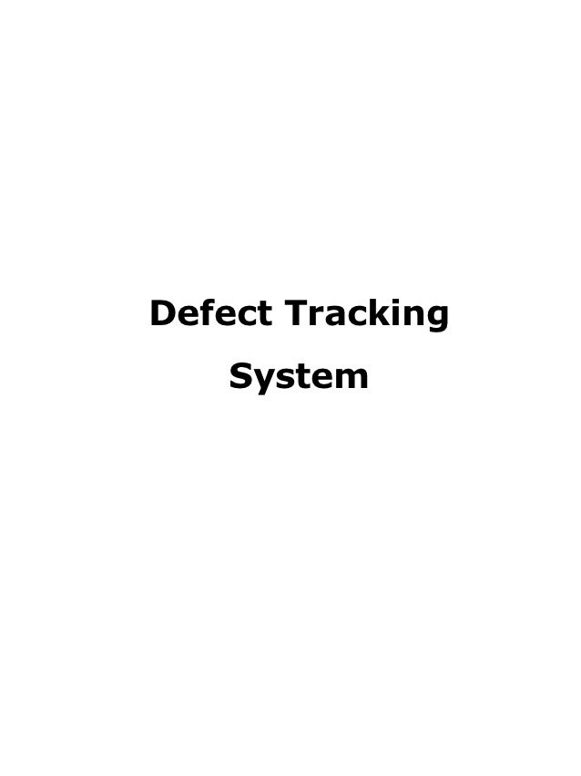 defect tracking system documentation