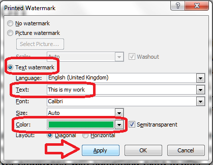 add or remove watermark on word document