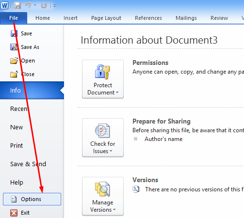 recover word document opened from outlook